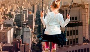 A visão de uma criança para a grandiosidade da construção civil.